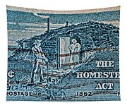 1962 Homestead Act Stamp Tapestry