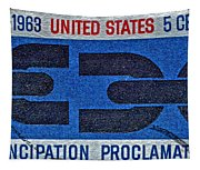 1963 Emancipation Proclamation Stamp Tapestry
