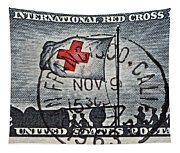 1963 Red Cross Stamp - San Francisco Postmark Tapestry
