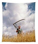 1970s Man Farmer Field Hand Wearing Tapestry