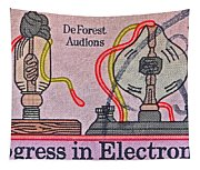 1973 Progress In Electronics Stamp Tapestry