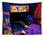 1980s Anonymous Teen Girl Wear Baseball Tapestry
