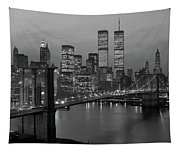 1980s New York City Lower Manhattan Tapestry