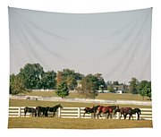 1990s Small Group Of Horses Tapestry