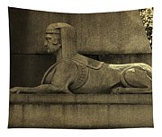 19th Century Granite Stone Sphinx Sepia Profile Poster Look Usa Tapestry