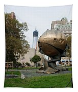 1w T C And The W T C Fountain Sphere Tapestry