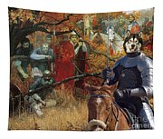 Alaskan Malamute Art Canvas Print Tapestry
