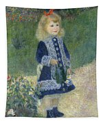 A Girl With A Watering Can Tapestry