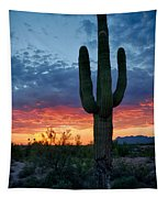 A Saguaro Sunset  Tapestry