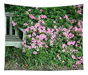 A Seat By The Flowers Tapestry