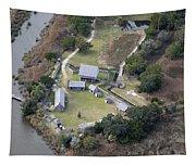Aerial Near Jekyll Island Tapestry
