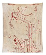 Antique Motorcycle Patent 1921 Tapestry