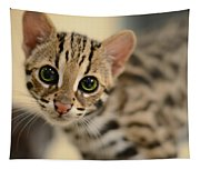Asian Leopard Cub Tapestry
