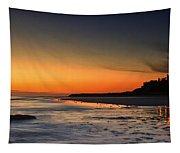 Bamburgh Castle At Sunrise Tapestry