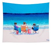 Beach Painting 'girl Friends' By Jan Matson Tapestry