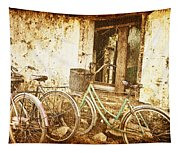 Bikes And A Window Tapestry