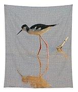 Black Neck Stilt Tapestry