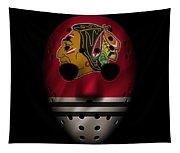 Blackhawks Jersey Mask Tapestry