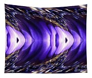 Blue Poppy Fish Abstract Tapestry