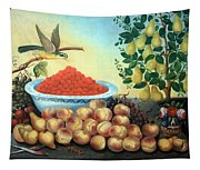 Bond's Still Life Of Bird And Dwarf Pear Tree Tapestry