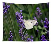 Cabbage White Butterfly Tapestry