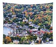 Camden Maine Harbor Tapestry
