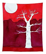 Canyon Tree Original Painting Tapestry