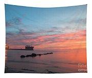 Charleston Harbor Sunset Tapestry