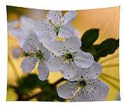 Cherry Flowers Tapestry
