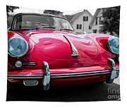 Classic Red P Sports Car Tapestry