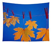 Close-up Of Fall Colored Maple Leaves Tapestry