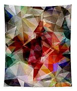 Colorful Geometric Abstract Tapestry
