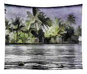 Cottage With Greenery All Around Tapestry