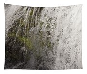 Curtain Of White Water Falling From Rocky Cliff Tapestry