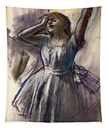 Dancer Stretching Tapestry