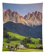 Dolomites From Val Di Funes Tapestry