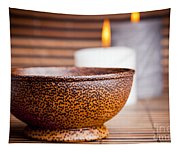 Exotic Bowl And Candles Tapestry