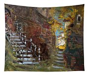 Fall In Albanian Village  Tapestry