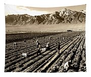 Farm Workers And Mt Williamson 1940s Tapestry