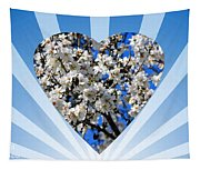 Floral Heart Tapestry