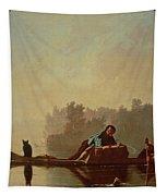 Fur Traders Descending The Missouri Tapestry by George Caleb Bingham