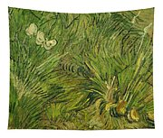 Garden With Butterflies Tapestry