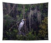 Lowcountry Marsh White Heron Tapestry