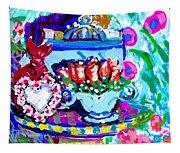 Heart Roses And Tiara Tapestry