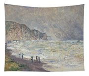 Heavy Sea At Pourville Tapestry