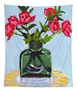 Jeff's Vase And Rodger's Roses Tapestry