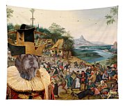 Korthals Pointing Griffon Art Canvas Print Tapestry