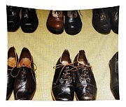 Mens Fine Italian Leather Shoes Tapestry