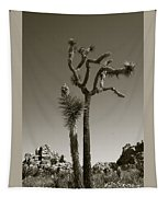 Joshua Tree National Park Landscape No 2 In Sepia Tapestry