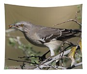 Mocking Bird With Ripe Hackberry Tapestry